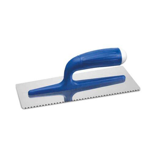 Zahnkelle 3 mm Edelstahl blauer Kunsstoff