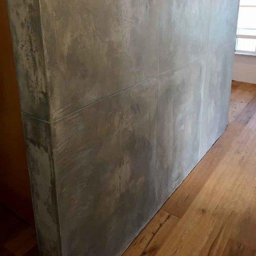 Concrete look plaster