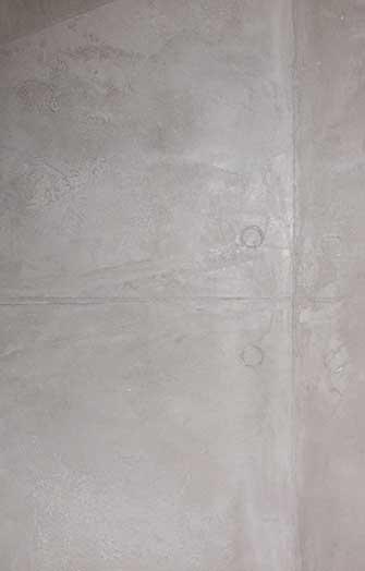 Close-up of concrete optics surface