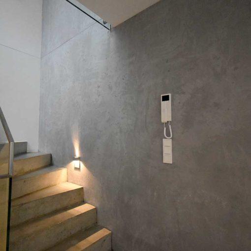 stairway in concrete look