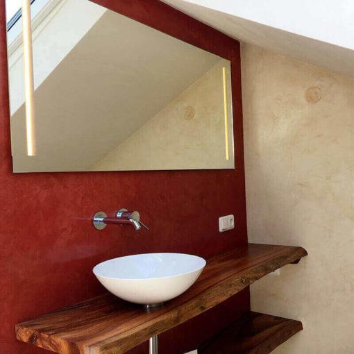 Stuc vénitien dans la salle de bains
