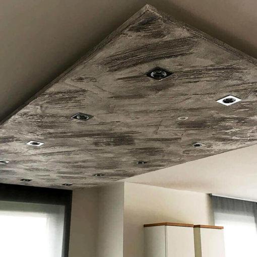 Ceiling panel iron oxide black