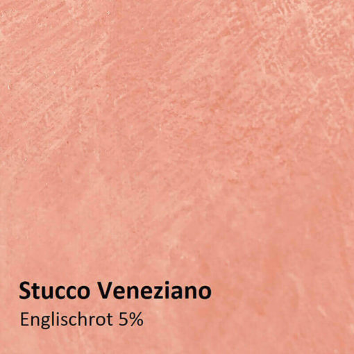 Stucco Muster Englischrot 5 prozent