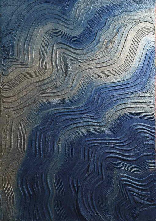 Mur décoratif en plâtre créatif bleu
