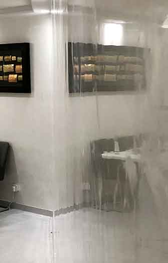 Reflection with glossy plaster