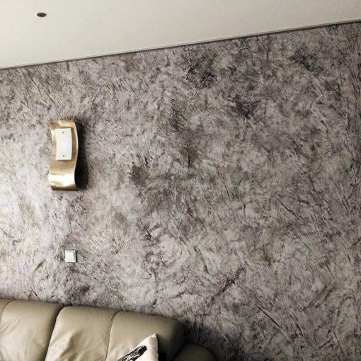 Stucco Veneziano Graphit Silber