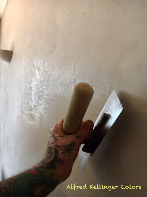 marmorino verarbeitet venezianerkelle