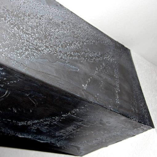 Effet métallique du plâtre marbré