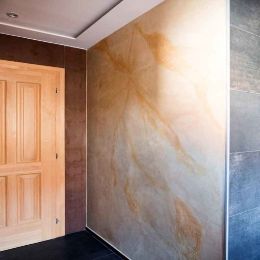 Marble plaster in the bathroom