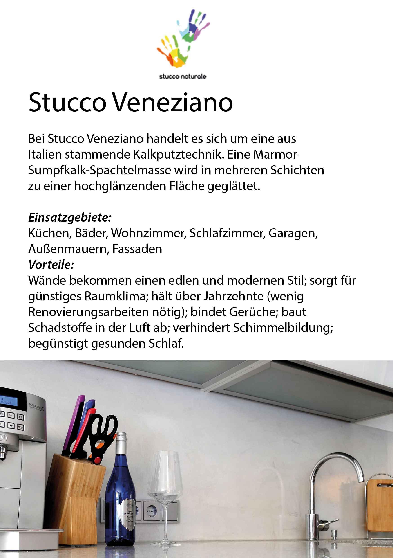 Supplement for Stucco Veneziano sample board