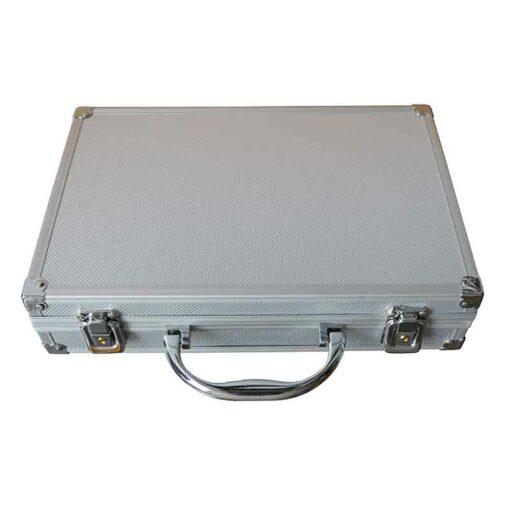 Aluminium case silver with handle
