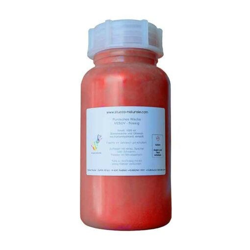 Effect wax with pearlescent pigment lava red 1000 ml