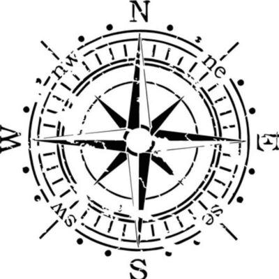 kompass schablone kunststoff