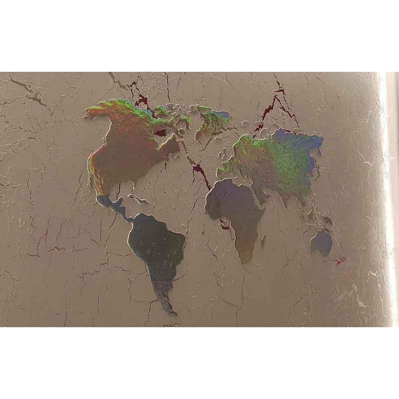 Weltkarte als Schablone