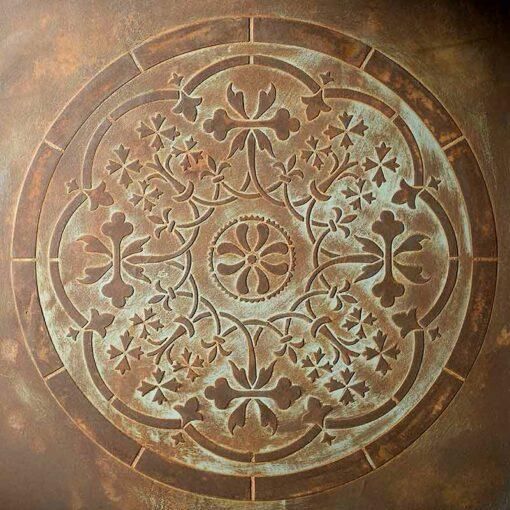 stencil mandala 98517 rust optic