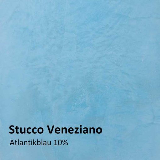 Stucco Veneziano color sample atlantic blue 10 %