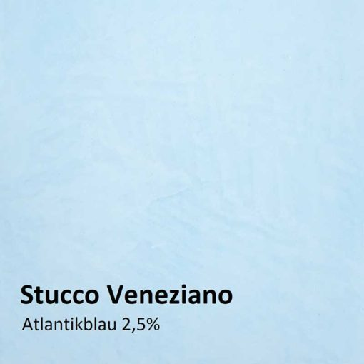 Stucco Veneziano color sample atlantic blue 2.5 %
