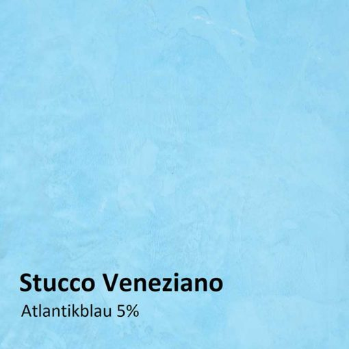 Stucco Veneziano color sample atlantic blue 5 %