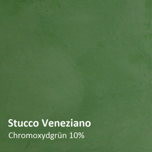 Stucco Veneziano Pattern chromium oxide green 10 percent