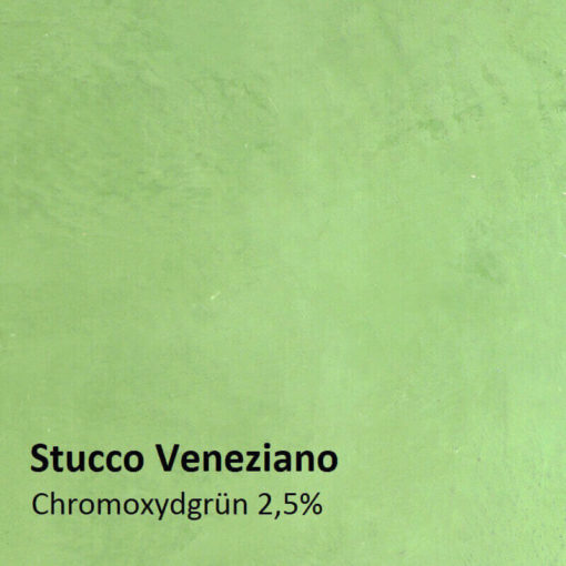Stucco Veneziano Pattern chromium oxide green 2.5 percent