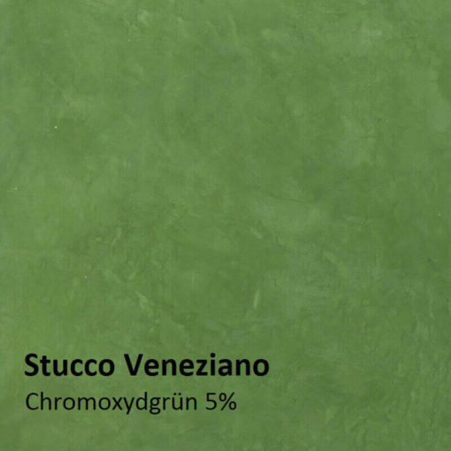 Stucco Veneziano Pattern chromium oxide green 5 percent