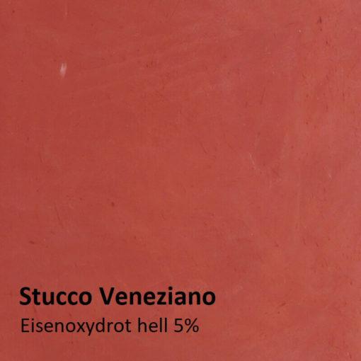 stucco oxide red motif 5 pour cent