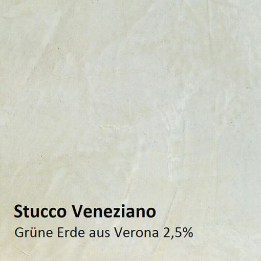 Stucco Veneziano colour pattern green earth 2.5 percent