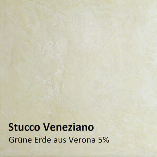 Stucco Veneziano colour pattern green earth 5 percent