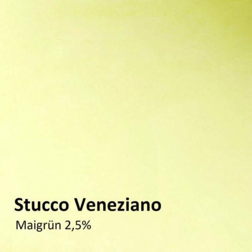stucco veneziano farbmuster maigruen 2.5 prozent