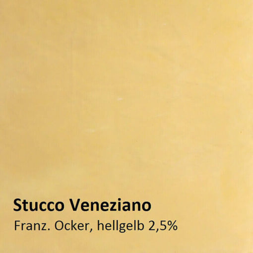 Stucco Veneziano muster ockergelb 2.5 prozent