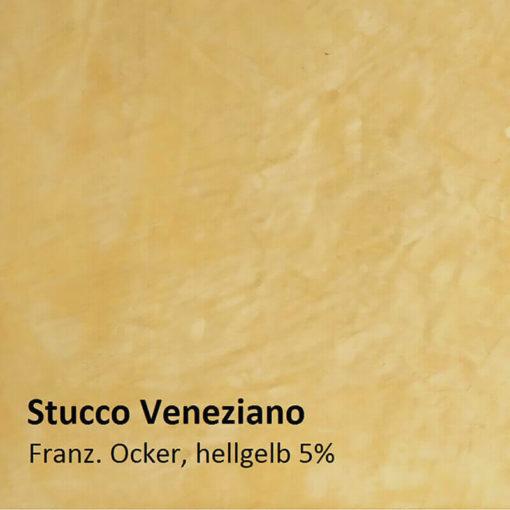 Stucco Veneziano muster ockergelb 5 prozent