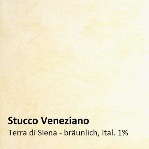 Stuc vénitien exemple de couleur brun de Sienne 1 pour cent