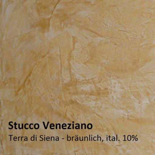 Stuc vénitien exemple de couleur brun de Sienne 10 pour cent