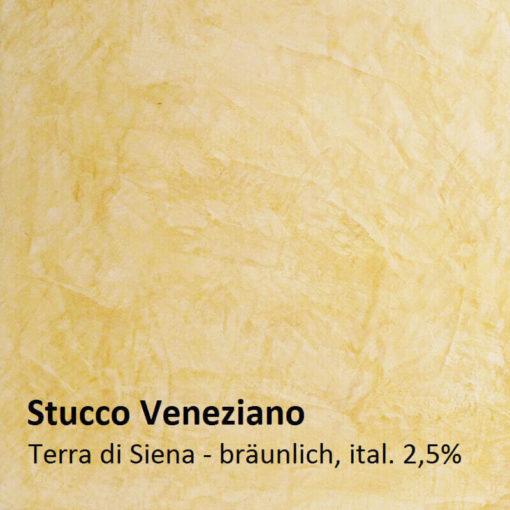 Stuc vénitien exemple de couleur brun de Sienne 2.5 pour cent