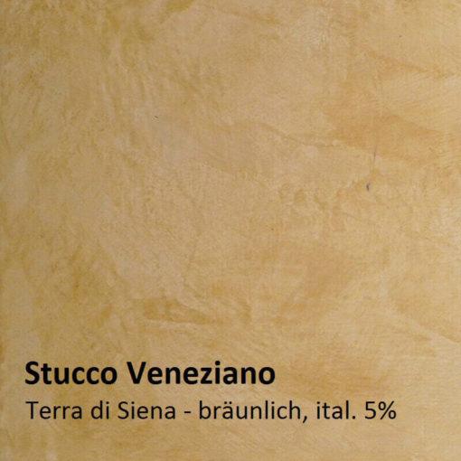Stuc vénitien exemple de couleur brun de Sienne 5 pour cent
