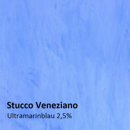 stucco ultramarine blue sample 2,5 percent