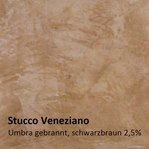 échantillon de couleur de stuc umbra brûlé 2.5 pour cent