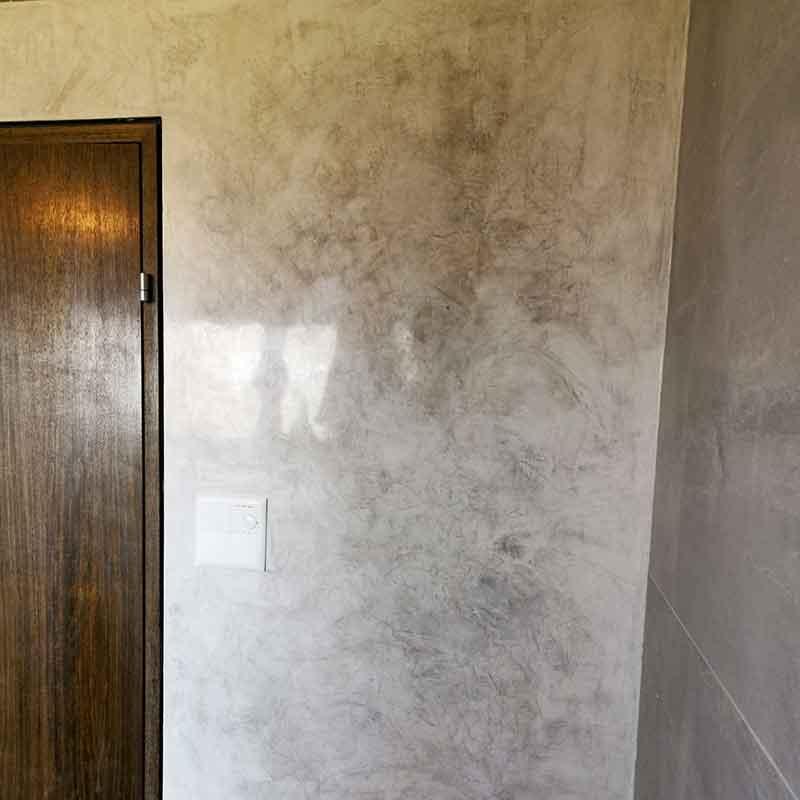 stucco hochglanz grau