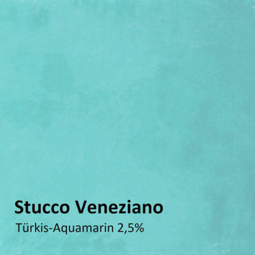 stucco veneziano color sample turquoise 2.5 percent