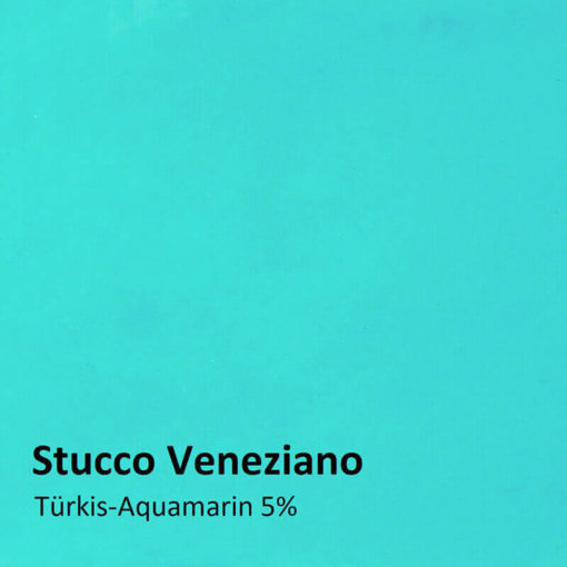 stucco veneziano color sample turquoise 5 percent
