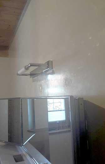 glänzende Wand Marmorputz im Bad