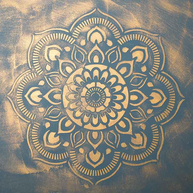 schablone 98518 Mandala goldig lasiert